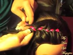♥ Toddlers  Tiaras Easter girl Inspired How to pageant Hair Style Ribbon French Braids