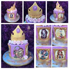 Ever After High Inspired Small Cake by SweetSoleil's Treats Ever After High Inspired Small Cake … Ever After High, Soirée Monster High, Festa Monster High, Birthday Cake Girls, Birthday Parties, Birthday Ideas, Fairytale Party, Small Cake, Princess Party