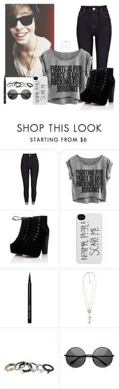 """""""Luke Hemmings"""" by sunshinegirl-11 ❤ liked on Polyvore featuring River Island, Bobbi Brown Cosmetics, Forever 21, women's clothing, women, female, woman, misses and juniors"""