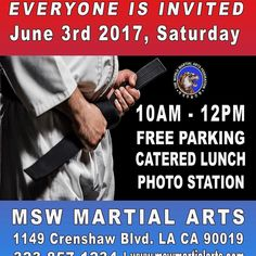 Hello all  We will have our Black Belt Promotional Test this Saturday! Everyone is invited so don't forget to invite all of your friends and family! Make sure to look your best as we will be taking many photos that day both in our Photobooth station and candid photos as well!  For those parents or family members who physically cannot be present due to distance work etc don't worry. We will go live on both our Facebook page and Instagram @mswmartialarts from 10am-12pm. Make sure to use the…