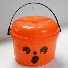 VTG 1989 trick or treat pail McBoo McDonalds HALLOWEEN happy meal candy bag/bowl #BigBoyTumbleweed