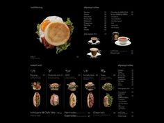 wichmorning menu website, love birds eye view photography of products