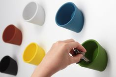 Cuppo is a minimal wall storage design created by Osaka-based company Ideaco.