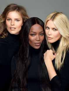 eva herzigova, naomi campbell and claudia schiffer by cuneyt akeroglu for vogue turkey november 2014