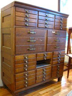 antique file cabinet.