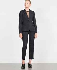 ZARA - WOMAN - CHECK TROUSERS  The whole outfit is great!