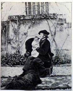 Munich and Co: Richard Wagner et sa fille Eva à Triebschen en 186...