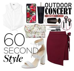 """""""60 second style"""" by kylie-zibihdz-1 ❤ liked on Polyvore featuring Kendall + Kylie, Boohoo, Nine West, B&O Play, Dolce&Gabbana, Victoria's Secret, MAC Cosmetics, asymmetricskirts and 60secondstyle"""