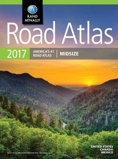 United States, Canada and Mexico, 2017 Midsize Road Atlas by Rand McNally