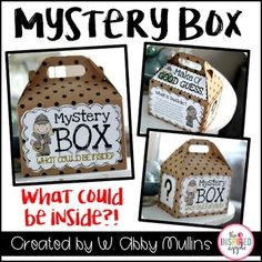 This is a fun way to engage students in a lesson, begin a new unit, or use as an activity for inferencing!  It can be used with ANY content area or subject.  The Mystery Box is presented to students and students are then encouraged to guess what could be inside - give them as little or as much information as you want!