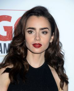 Lily Collins back in long hair. She can't not look beautiful.