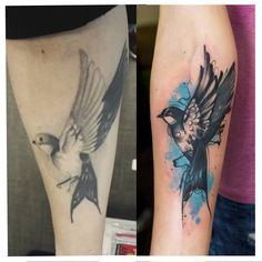 Доработка... #tattoo #tattoos #ink #inked #tattoolove #татуировка #katerynazelenska  #tattoocolor #colortattoo #sketch #tattoosketch #tattooliner #tattoowatercolor #watercolor #cover #coverup #swallow