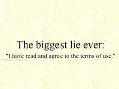 Biggest lie ever !