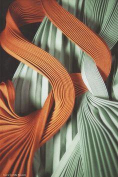 Detail of dress by Yohji Yamamoto in Peut-etre magazine issue 8
