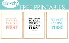 Oh So Lovely: FREEBIES 2