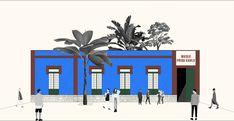 The Chemistry of Kahlo Blue, Collage. Image Cortesía de Danae Santibáñez