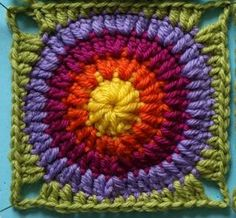 Crochet square tutorial