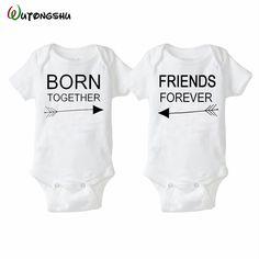 Moda lato biały body dla bobasów 0-12months twins baby boy dziewczyna odzież 1st urodziny prezent dla niemowląt noworodka baby clothing