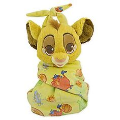 This cute plush doll is baby Simba from The Lion King. He is wrapped in a blanket pouch that has a velcro closure. His blanket pouch features artwork with Pumbaa and bugs. 10 inches tall New with tags Authentic Disney Parks product Disney Plush, Disney Toys, Baby Disney, Disney Disney, Disney Stuffed Animals, Cute Stuffed Animals, Baby Dumbo, Pikachu, Baby Receiving Blankets
