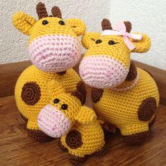 Amigurumi giraffe family