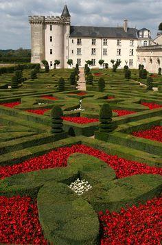 The Villandry Castle and Gardens.