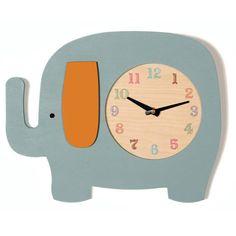 Handmade Wooden Animal Clock - Elephant