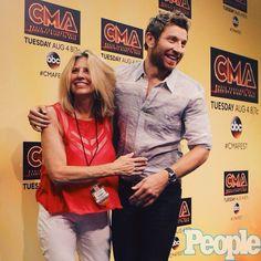 CMA Fest ❤️ Brett Eldredge and his mom ❤️