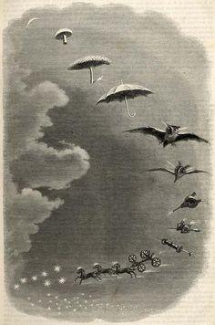 J.J. Grandville, Second Dream. A Stroll in the Sky (1847)