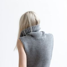 FIGTNY's Outfit 84 which includes Blesse'd Are The Meek's vertical knit dress in charcoal