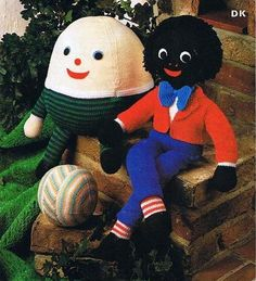 Vintage Knitting Patterns~Humpty Dumpty~Golly and Ball Toys~DK~PATTERNS ONLY | eBay
