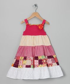 Take a look at this Fuchsia Tiered Dress - Toddler & Girls by Red Currant Kids on #zulily today!