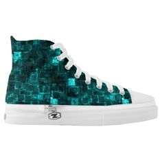 Shop Digital Aqua Glimmer Tiles High-Top Sneakers created by futureimaging. Athletic Fashion, Custom Sneakers, On Shoes, Converse Chuck Taylor, High Tops, High Top Sneakers, Aqua, Pairs, Unisex
