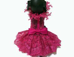 Vestido de hadas de perro rosa por LOLADOGdesigns en Etsy