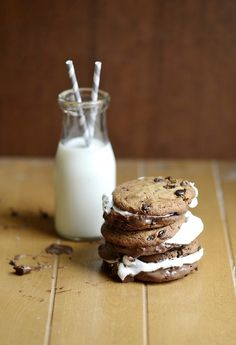 Chocolate Chip Baked S'mores by versesfrommykitchen #Smores