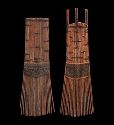 Combs Helu. TONGA.  Coconut leaf midribs, coconut fibre