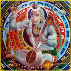 "☀ SHRI HANUMAN ॐ ☀ ""Those persons who always chant ""Shri Ram"", ""Shri Ram"", without any doubt would get victory as well as salvation and happiness. Shiva Art, Ganesha Art, Lord Ganesha, Hindu Art, Hanuman Photos, Hanuman Images, Lord Krishna Images, Shri Hanuman, Kali Goddess"