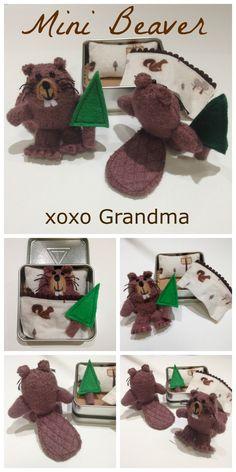 xoxo Grandma: Make a Mini Beaver - a Refashion & Free Pattern