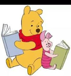 Winnie the Pooh and his best friend Piglet is having reading under the Sun! How are you going to spend your Summer Vacation this Year? Winnie the Pooh and Piglet hope by reading good books! Winnie The Pooh Drawing, Winnie The Pooh Pictures, Cute Winnie The Pooh, Winnie The Pooh Friends, Tigger Y Pooh, Pooh Bear, Eeyore, Disney Clipart, Images Disney