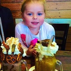 Something about our FreakShakes that puts a rose in every cheek!! @patissez  and a big thanks to miss Coochie our gorgeous junior FreakStar #Canberra#milkshake#dessert#travel#family#FreakShakes# by freakshakes