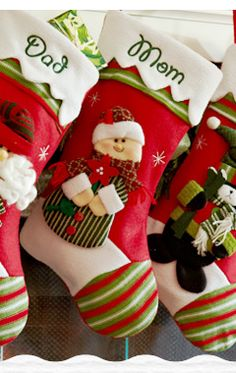 Personalized Christmas Stockings See other ideas at West Tremont #Holiday Market in #Charlotte. https://www.facebook.com/WestTremontHolidayMarket