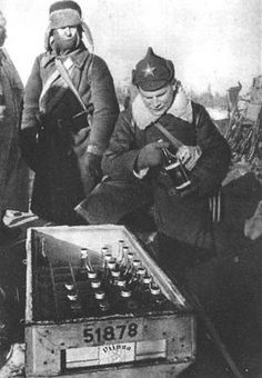 Box of Molotov Cocktails captured at Summa. Winter War, February 1940
