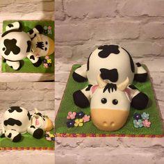 Cute Baby Bull cake. cow cake.