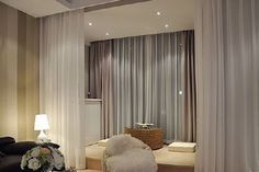 """When looking at room dividers, you will see that most of them are moveable but this does not mean that they are portable. Using room dividers made from curtains you can just fold them up and move them where you need them without any worries. There are some curtain room dividers that are attached to … Continue reading """"20 Inspiring Curtain Room Dividers"""""""