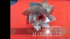 Flor Catavento de Caixa de Leite