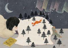 """小池葉月 (Hazuki Koike), """"Revontulet"""" (""""The Northern Lights""""). :)"""
