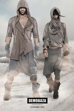#fashion #desertfashion #post-apocalyptic #hood #harempant #demobaza