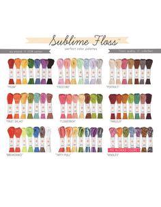 via Michelle Bond  Love these... Sublime Floss Packs - ALL PALETTES