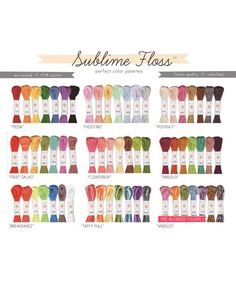 Sublime Floss Packs - ALL PALETTES