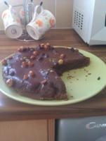 Migdałowy brownie (dieta wegańska)