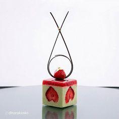 "#finestfood #finedining #food #foodporn #gourmet #instagramfood #chef #foodart #lovefood #bestplating #instafood #yummy #foodpic #photooftheday #instagourmet #dinner #lunch #dessert #instacool #taste #art #goodeats #gastronomy #love #luxury #cook #cooking #foodgasm #instagood  By @dinarakasko ""Cake Frasier  Strawberry, pistachio, mascarpone, almond with white chocolate."""